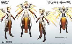 Mercy - Overwatch - Close look at model by PlanK-69 on DeviantArt