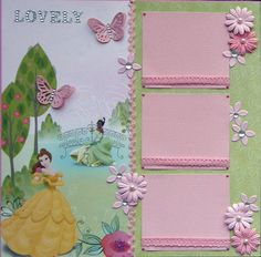 12x12 double page scrapbook layout Disney's Princesses by ntvimage
