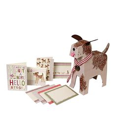Love this Curly Puppy Stationery Set on #zulily! #zulilyfinds
