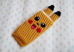 pikachu phone cover - free crochet pattern