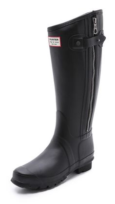 Hunter Boots: Rag & Bone X Hunter Tall Boots Perfect for rocking with your moto jacket on a rainy day!