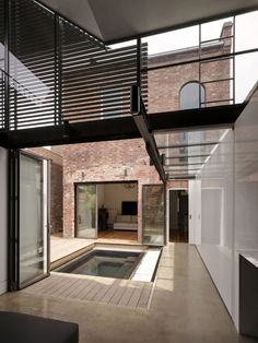 brick walls and concrete floors