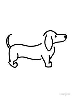 'Dachshund' Photographic Print by Designzz drawings dog 'Dachshund' Photographic Print by Designzz Dachshund Tattoo, Dachshund Art, Dachshund Drawing, Piebald Dachshund, Cream Dachshund, Dachshund Gifts, Funny Dachshund, Dachshund Puppies, Weenie Dogs