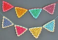 crochet garlands with granny stitch