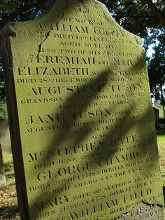 Gravestone St Marys Church Dock road Chatham