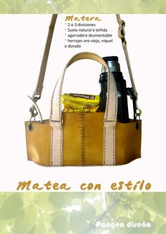 Mateá con estilo ;) Matera / cuero / Uruguay Leather Bag, Messenger Bag, Satchel, Backpacks, Purses, Sewing, Bags, Wooden Trays, Handmade Leather