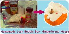 Homemade Lush Gingerbread House Bubble Bars Recipe, DIY Christmas Gift Idea (Bath and Spa Craft)
