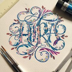 My latest hand drawn lettering project. Beautiful Lettering, Beautiful Calligraphy, Calligraphy Fonts, Typography Letters, Handwritten Typography, Typography Poster, Creative Lettering, Lettering Design, Web Design