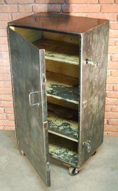 Vintage Industrial Sankey-Sheldon Metal Cabinet   Stylish Storage ...