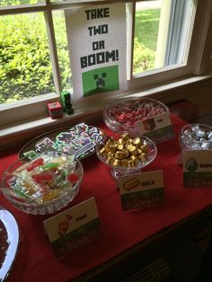 Minecraft make-your-own goody bags