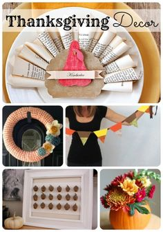 20 Thanksgiving decor ideas to bring a little fall into your home! Via SomewhatSimple.com