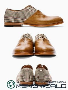 Maison Martin Margiela Prince Of Wales Check Oxfords