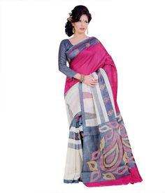 Miraan Art Silk Printed Saree SDE5125