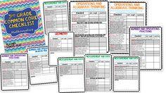 3rd grade math common core checklist Common Core Math