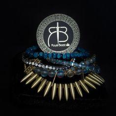 "RDB ""Blue Sea"" spikes bracelet by ROYAL BEAST DESIGN – JAANTE-SHOWROOM.COM  #royalbeastdesign #swissbrand #handmade #jewellery #madeinswitzerland #casual #chic #bracelet #ethnic #musthave #sustainable #jaanteshowroom #ecofriendly #pulsera Spike Bracelet, Handmade Jewellery, Spikes, Casual Chic, Showroom, Beast, Ethnic, Jewels, Bracelets"
