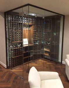 glass enclosed wine cellar