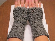 Fingerless gloves. $8.98, via Etsy.