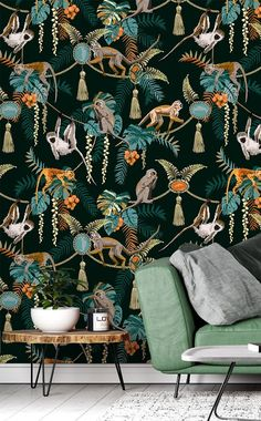 Embellished with golds, oranges and greens, this rich selection of colours will act as a fantastic base for you to decorate the rest of the room. To order, simply tell us your wall's dimensions and choice of wallpaper material. We offer classic or premium paste the wall or textured peel and stick for you to select from. Discover more from Wallsauce! #wallpaper #homedecor
