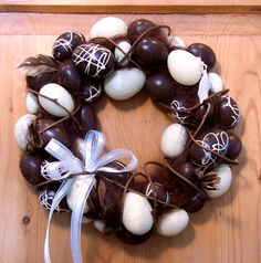 Faux Chocolate Egg Wreath