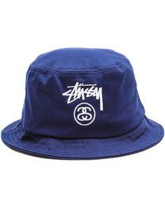 4b194f83d9f Stussy - Stock Lock Bucket Hat (Navy)