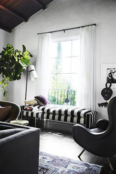 185 best Black & White Rooms images on Pinterest   Living ...