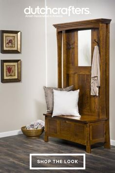 "While it is modest and simple like all mission furniture, the Amish Modesto Mission Bench is truly a shining star! Featured in Old House Journal Magazine in August 2015, this mission bench was noted as ""a must have for modern foyers and mudrooms!"" The richness and luxury of the solid wood you select is showcased in the panels and form of this mission bench. The attractive bench legs are flared slightly to create stylish shapes."