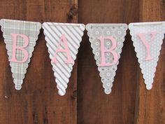 Sweet Baby Girl Banner Baby Shower Banner by twogirlspaperdesign