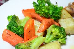 If you saw my post for Buttermilk Roast Chicken, you might have noticed the bright and colorful vegetables next to it. This is one of my go to side dishes. I love the flavor and texture that results from roasting vegetables and this recipe could not get any easier. Simply chop, coat with some oil …