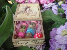 Miniature Fairy Dust Vial Match Box Gift Set by gypsiewitch, $18.00