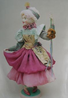 Paperclay sculpted doll by  Ulla Norup Milbrath