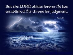 Psalm 9:7 The Lord Established His Throne For Judgement (blue)