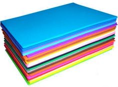 Rainbow Creations Sheets of Coloured Eva Foam - Craft Foam - 40 sheets £6.95 useful to cut your own shapes - being creative.