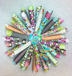 Paper Wreaths Create a one of a kind wreath from paper! All you need is two-sided scrapbooking paper, cardboard, and a glue gun! Simply beautiful. Create one with a holiday theme, match your home décor, or make one for your office! Easy and fun to do!