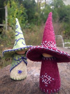 Witch gnome, Waldorf inspired natural storytelling doll by #SandStormsArt