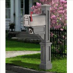 Mayne Dover 4 x 4 Granite Polymer Mailbox Post at Lowe's. The Mayne Dover Mail Post is a true classic. This timeless New England-style Mail Post fits over a standard post to create a look that is simple yet Cheap Mailboxes, Commercial Mailboxes, Residential Mailboxes, Mailbox Post, Wood Post, New England Style, Curb Appeal, Granite