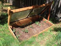 Cold frame from recycled materials - my tomato seedlings say ahhh.