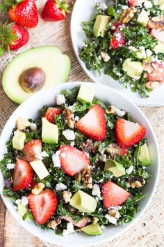 Strawberry and Avocado Kale Salad--- VERY good!! I would definitely make it again!