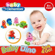 Tutti pazzi per i dinosauri! Con la linea Soft & Go di #BabyClemmy il divertimento corre su quattro ruote. :)   #giochi #giocattoli per la #primainfanzia #giochibambini #toys #baby #babytoys