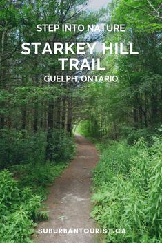 Starkey Hill Trail in Guelph, Ontario in the spring-time is a beautiful spot for a leisurely hike. It's west of Toronto, so if you're doing a little day trip, driving around, stop here to stretch your legs and to have a little bite to eat. Hiking Places, Hiking Spots, Hiking Trails, Hiking Gear, Ontario Travel, Ontario Camping, Canadian Travel, Colorado Hiking, Family Road Trips