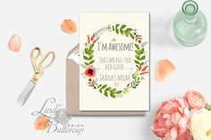 Funny Mothers day card Mother Card by LindaButtercupDesign on Etsy