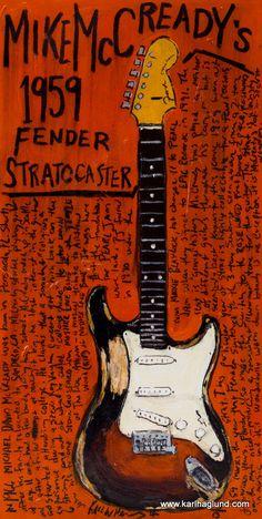 Mike McCready 1959 Fender Stratocaster vintage electric guitar art print. Pearl Jam. Guitar Art. Guitar Poster by KarlHaglundArt on Etsy https://www.etsy.com/listing/130981260/mike-mccready-1959-fender-stratocaster