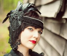 Dark 20s headpiece