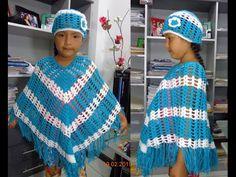 Poncho grande tejido a crochet paso a paso - TEJIDOS OLGA HUAMAN - YouTube