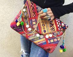 Gypsy Clutch Bag Banjara Bag Tribal Clutch by KittyKatMelbourne
