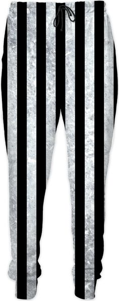 Beetlejuice suit pants, black and white vertical stripes pattern, worn out, dirty look joggers Halloween Fashion, Halloween Party, Suit Pants, Vertical Stripes, Cool Websites, Stylish Outfits, Black Pants, Joggers, Invitations