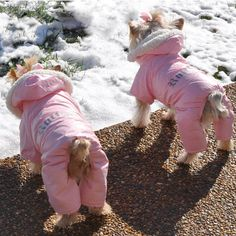 """Our Pink """"Ruffin It"""" Snow Suit is designed to keep your little girl Warm, Cuddly and Dry on those cold fall and winter nights. It is fully lined inside, with a very soft and thick Sherpa Fleece. The Outer Shell is made from a soft, flexible water repellant Polyester/Nylon Blended fabric, with wor..."""