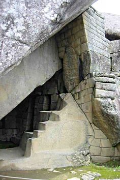 Machu Picchu - Royal Tomb in Machu Picchu Beneath the temple lies a cave known as The Royal Tomb, naturally formed.  For more information visit - http://www.guiddoo.com/