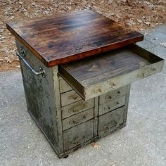 Re-purposed Industrial Tool Chest into Amazing Kitchen Island