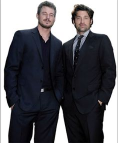 eric dane, patrick dempsey. sloan and shepard from greys anatomy. best bromance ever.