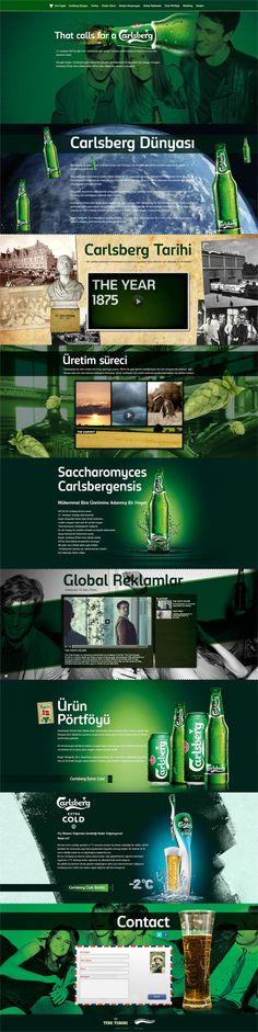 Carlsberg.com.tr by Furkan Akbayrak, via Behance